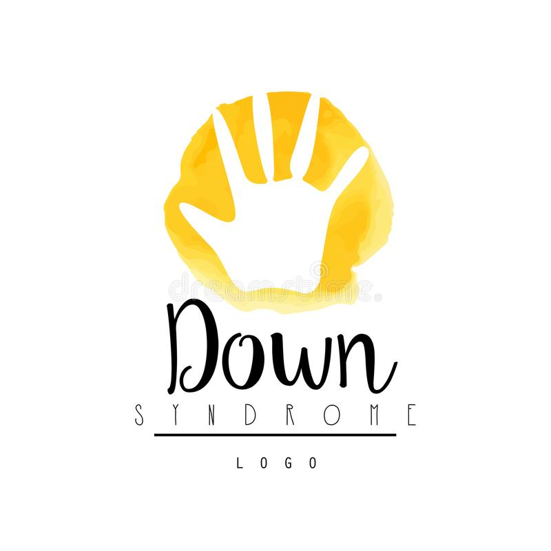 Bright logo with child hand for medical down syndrome center vector download bright logo with child hand for medical down syndrome center vector for event invitation stopboris Images