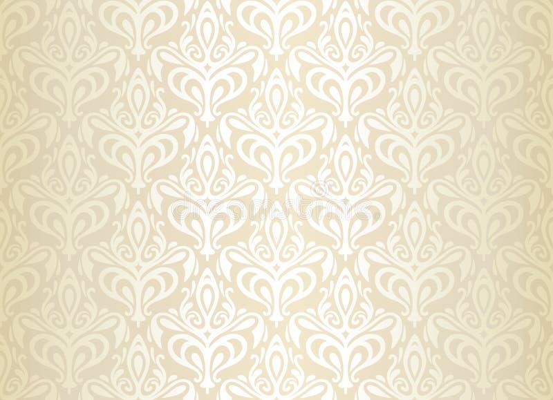 Bright luxury vintage wallpaper royalty free illustration