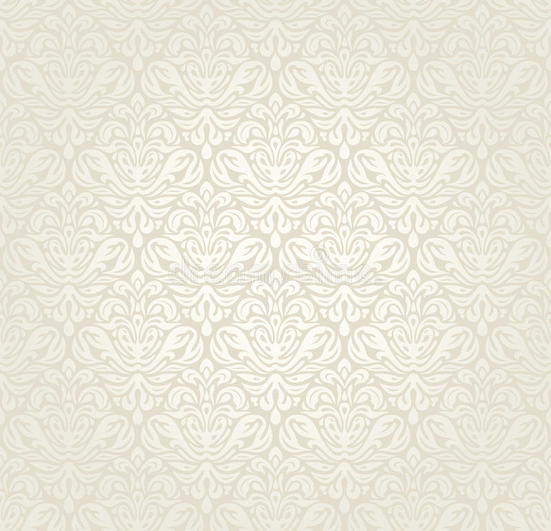 Download Bright Luxury Vintage Wedding Seamless Wallpaper Background Stock Vector