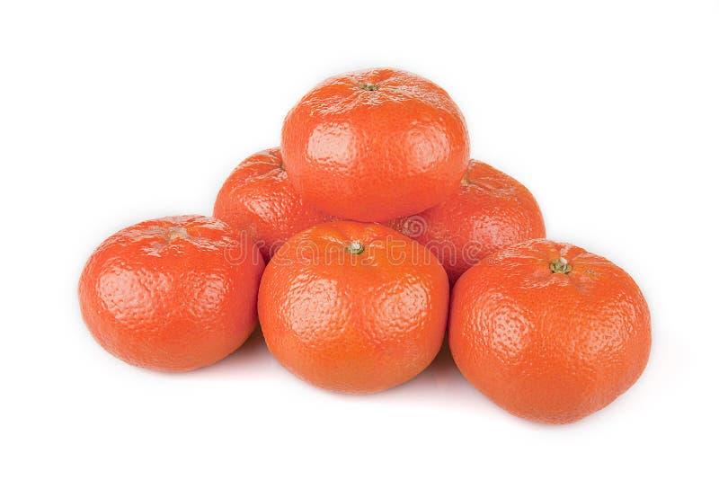 Bright mandarins royalty free stock photos
