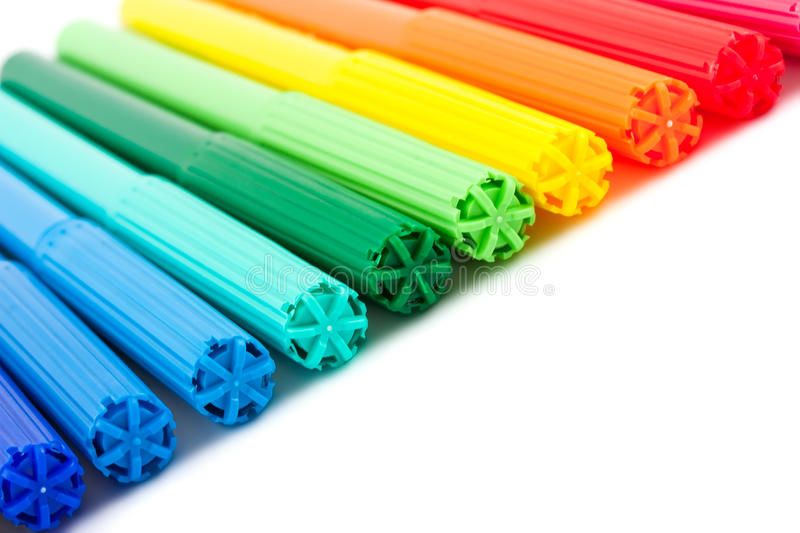 Bright Markers Stock Images