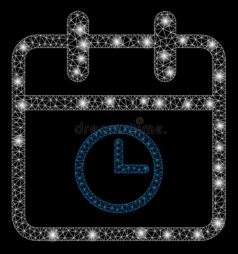 Bright Mesh Carcass Day Time with Flare Spots vector illustration