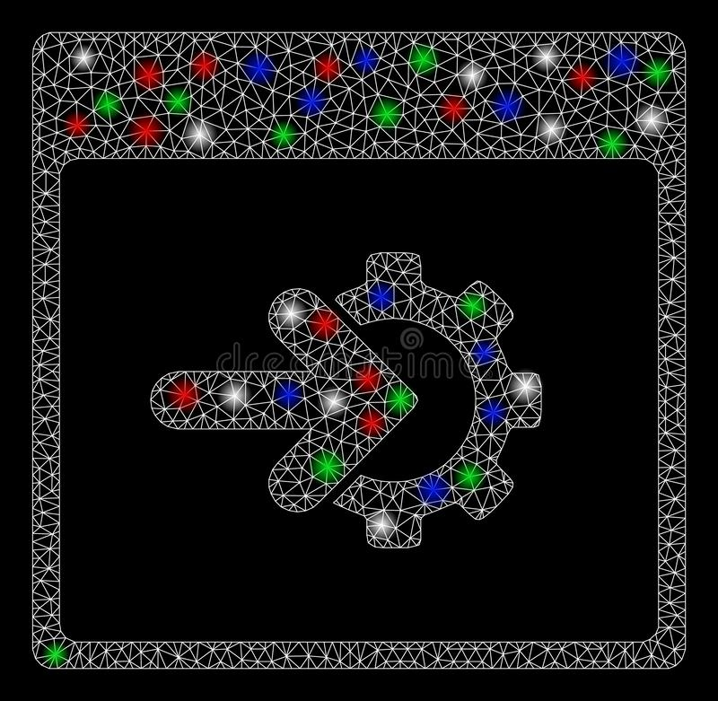 Bright Mesh Network Cog Integration Calendar Page with Light Spots royalty free illustration