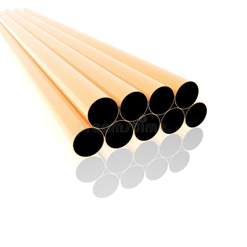 Free Bright Metal Tubes Royalty Free Stock Image - 12932386
