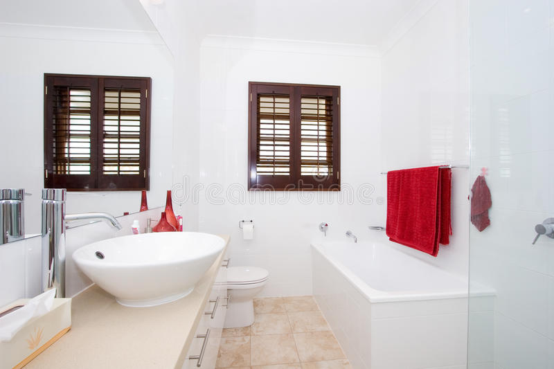 Bright Modern Bathroom stock images