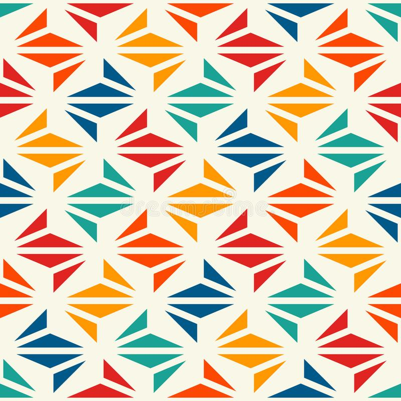 Geometric modern print. Contemporary abstract background with repeated triangles. Seamless pattern with origami forms vector illustration