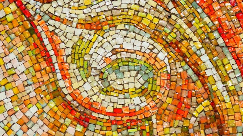 Bright mosaic tiles background stock illustration