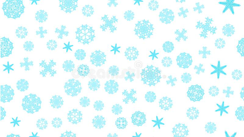 pattern texture frame blue snowy winter festive Christmas abstract carved snowflakes on a white background. Vector illustration royalty free illustration