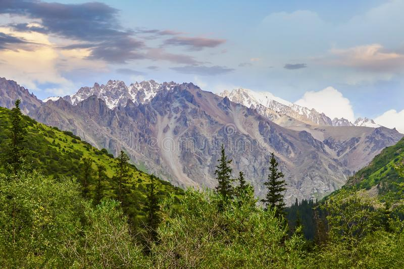 Bright mountain landscape royalty free stock photography