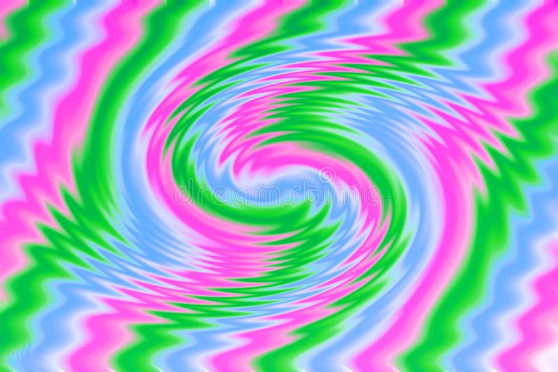 Bright multicolor abstract background. Blurred pink, blue and green wave royalty free illustration