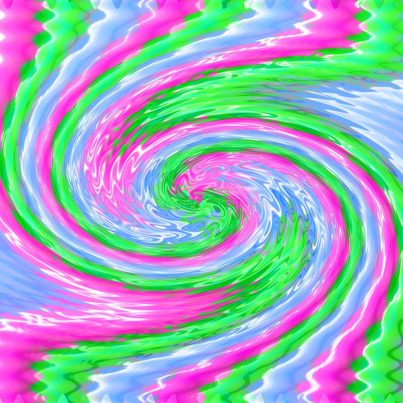 Bright multicolor abstract background. Blurred pink, blue and green wave stock illustration