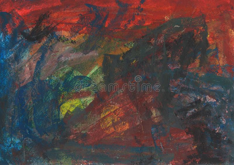 Bright multicolored background. Acrylic handmade painting. royalty free stock images