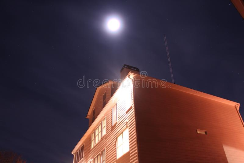 A bright night royalty free stock photography