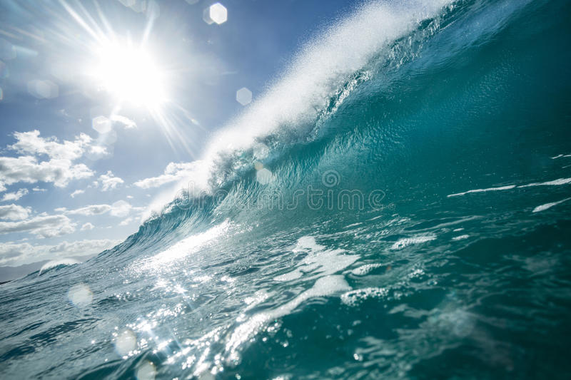 Bright colorful ocean wave sea background stock image