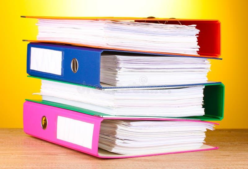 Bright Office Folders Stock Image