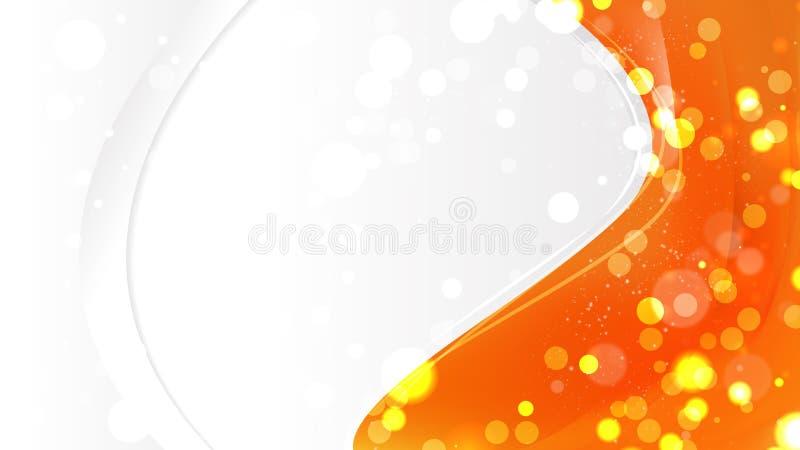 Bright Orange Business Brochure Template illustration stock