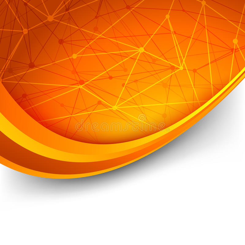 Free Bright Orange Intricacy Molecule Background Stock Images - 41147084