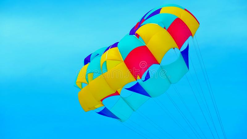 Bright parachute royalty free stock image