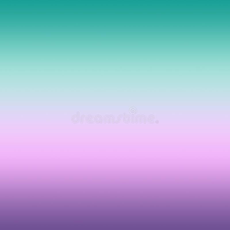 Bright Pastel Mint Pink Ultra Violet Blurred Gradient Minimal Ba royalty free illustration