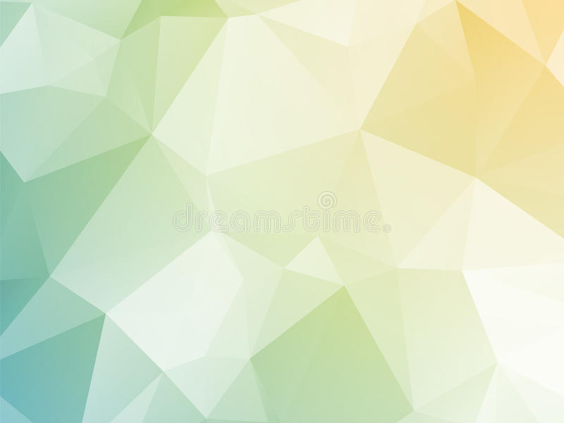Bright pastel yellow blue green triangular background royalty free illustration