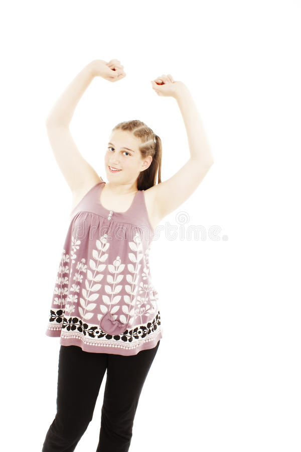 Download Bright Picture Of Happy And Carefree Teenage Girl Royalty Free Stock Image - Image: 19795076