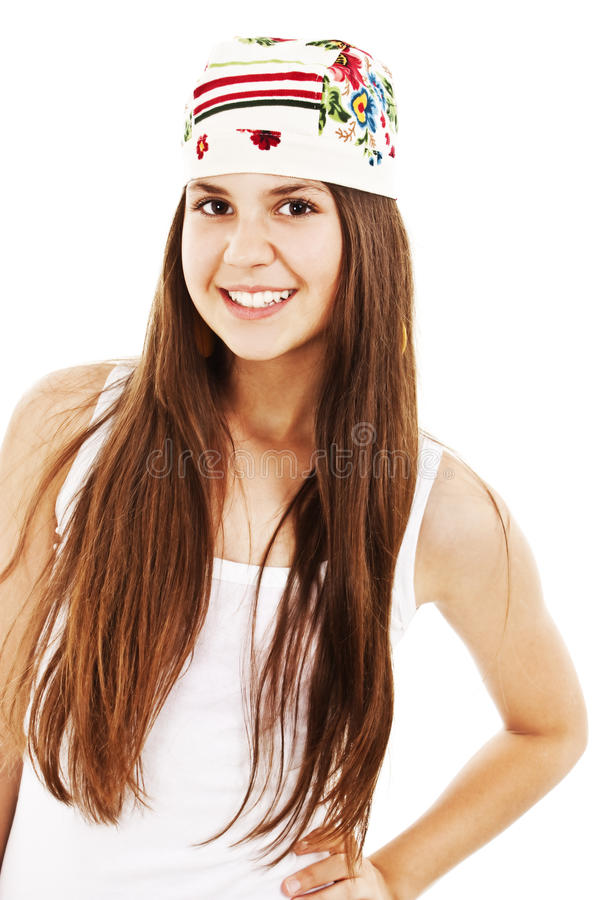 Download Bright Picture Of Happy And Carefree Teenage Girl Stock Photo - Image: 20850276