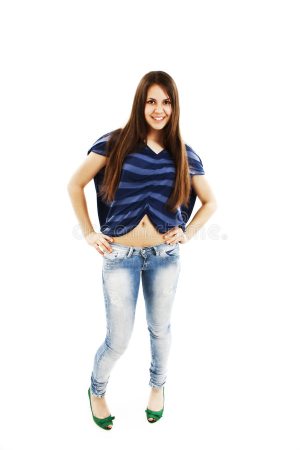 Download Bright Picture Of Happy And Carefree Teenage Girl Stock Photo - Image: 24790478