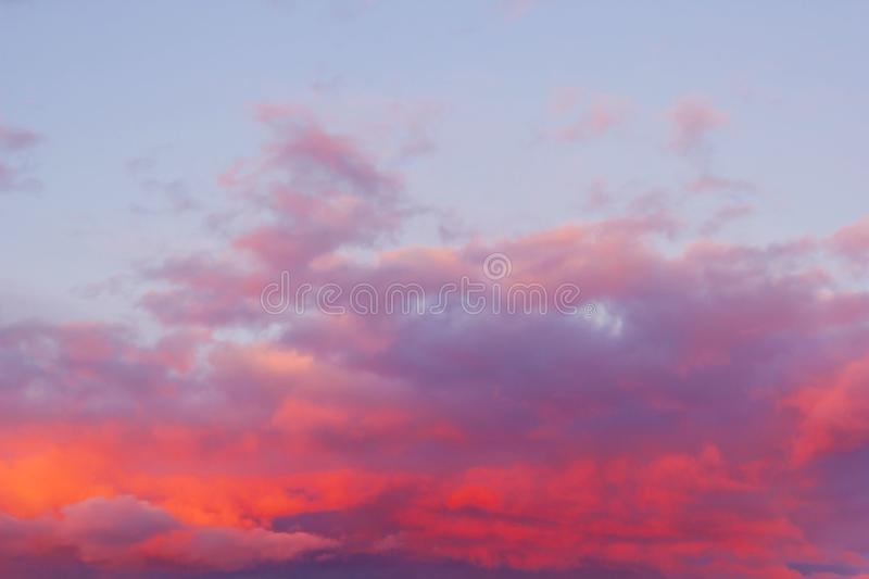 bright pink clouds royalty free stock photography
