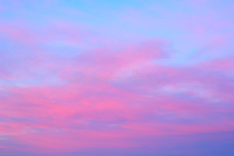 Bright pink clouds royalty free stock photos
