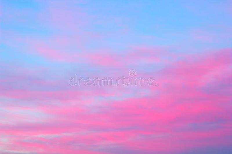bright pink clouds stock image