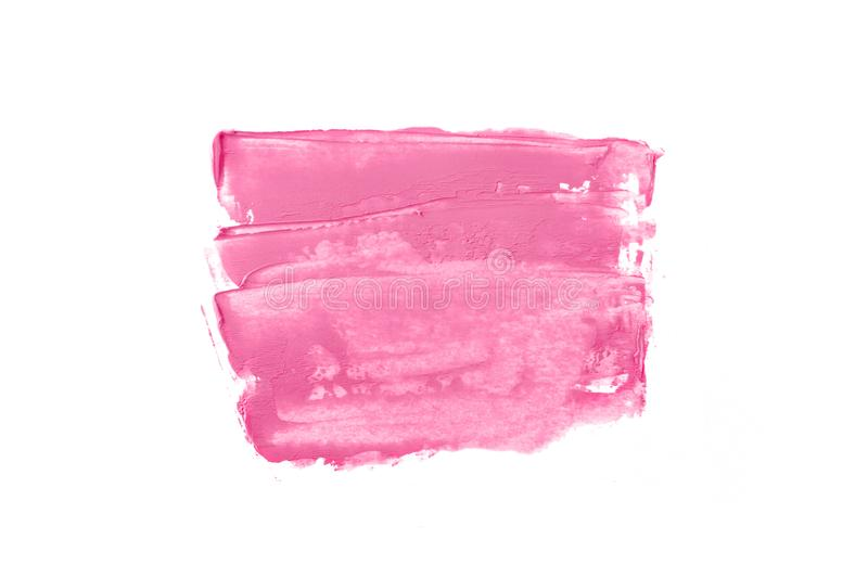 Bright pink horizontal strokes. Bright pink and paint in the form of a group of horizontal strokes isolated on a white background stock photography