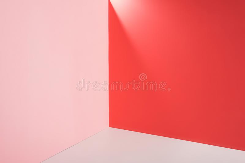 Bright pink, red. And white background royalty free stock photo