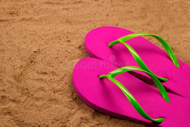 bright pink slippers stock images