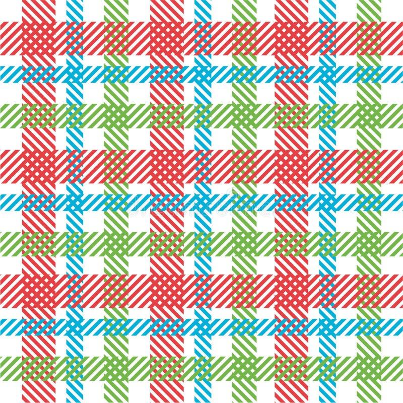 Bright plaid pattern vector illustration