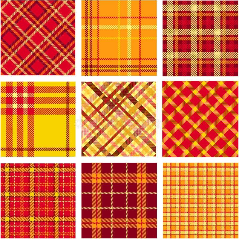 Bright plaid patterns vector illustration