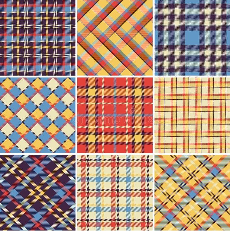Download Bright plaid patterns stock illustration. Image of fiber - 24773134