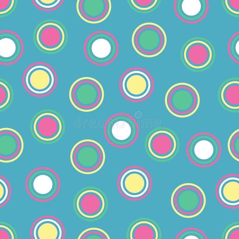 Bright Polka Dots stock photo