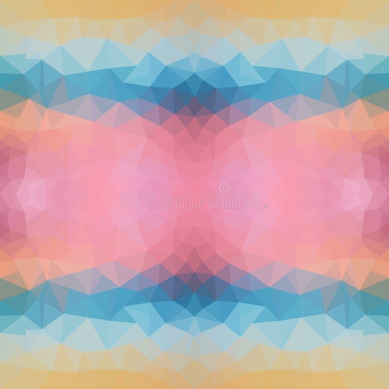Bright polygon texture of sea sunset for modern design. Vector illustration. sunset triangular Pattern royalty free illustration
