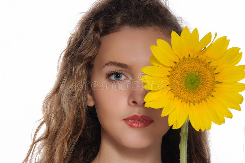 Bright portrait of a beautiful woman royalty free stock images
