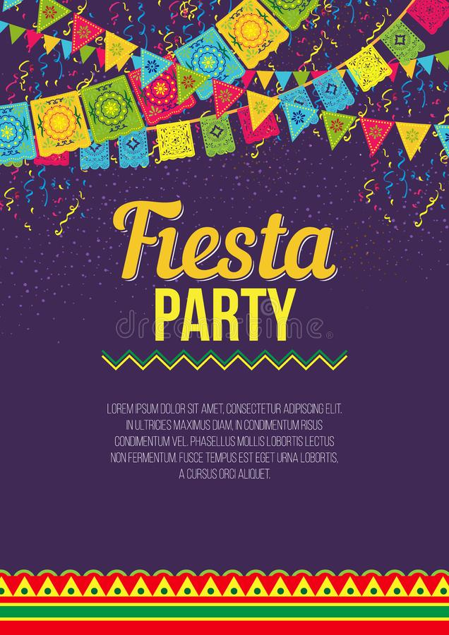 Free Bright Poster Inviting To Fiesta Party Stock Image - 118857981