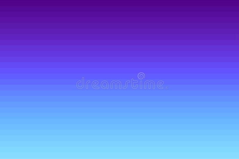 Bright purple and blue horizontal striped background. Gradient lines. Glitch texture.  royalty free illustration