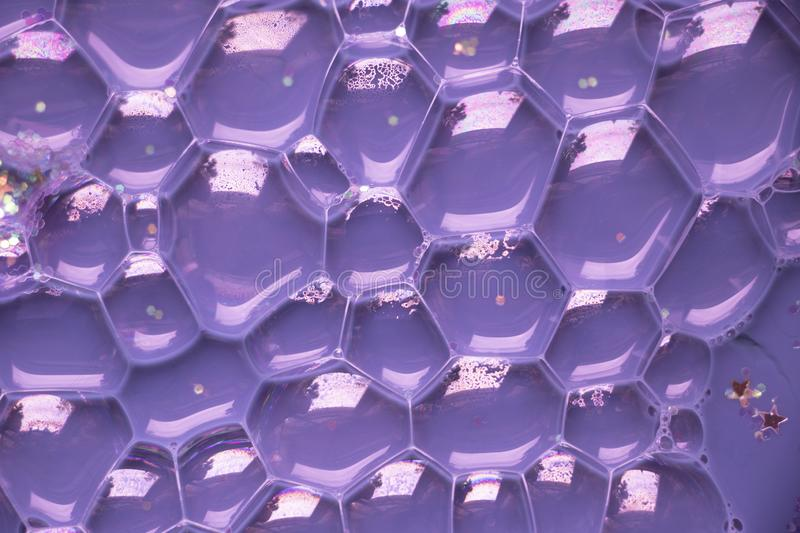 Bright Purple Bubble Cells Background Texture royalty free stock photography