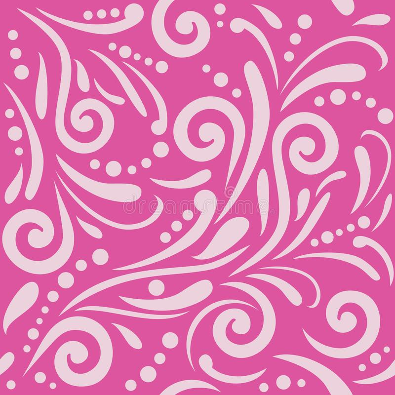 Bright purple seamless ornamental pattern for design stock images