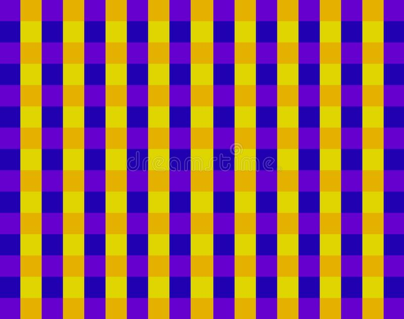 BRIGHT PURPLE AND YELLOW BLOCK PATTERN royalty free illustration