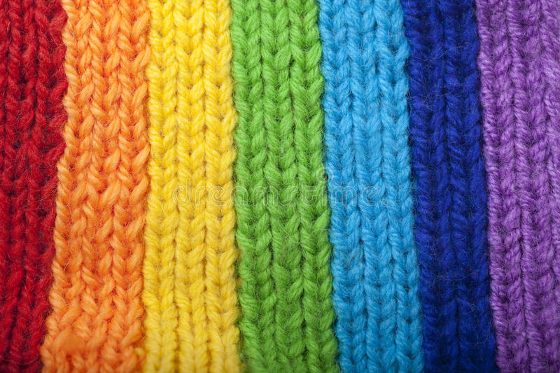 Download Bright Rainbow Knitted Scarf Stock Image - Image: 13879457