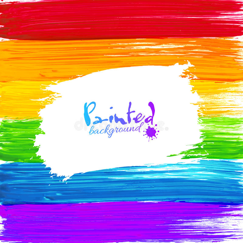 Bright Rainbow Paint Splashes Vector Background Stock