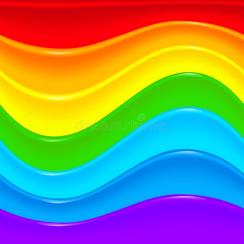 Bright rainbow vector plastic waves background vector illustration