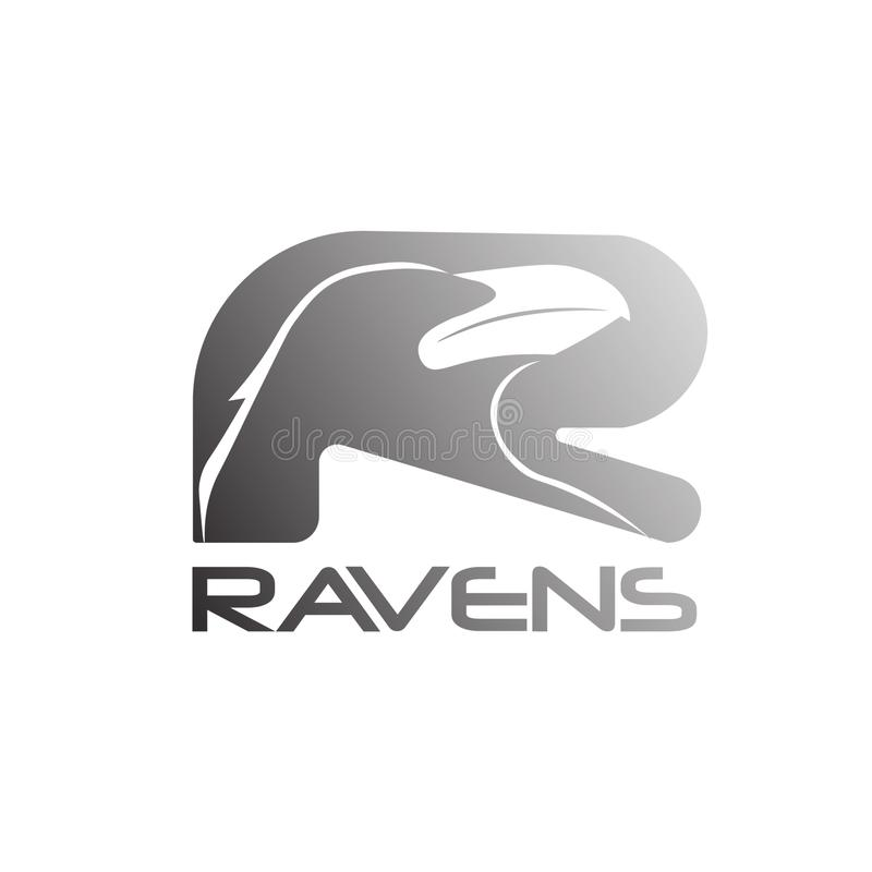 Bright Raven abstract mark logo 02 royalty free stock images