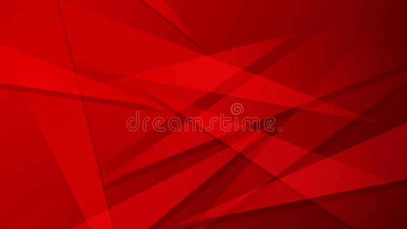 Bright red attractive abstract background with overlapping triangles stock illustration