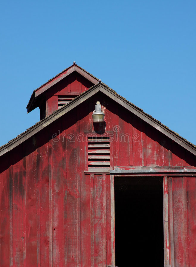 Download Bright Red Barn stock image. Image of roof, landscape - 6128219